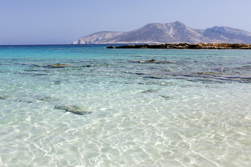 Small Cyclades, blue sea