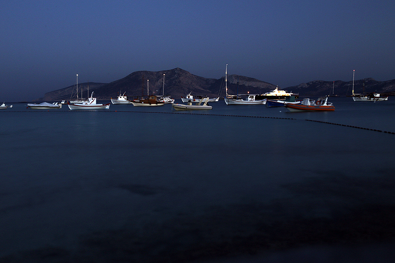 Small Cyclades, a night bay