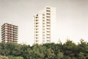 Lignano Pineta, skyscrapers