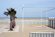 riccione adriatic beach on winter