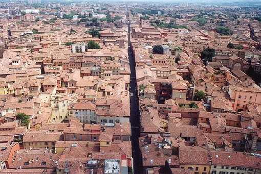 Bologna, a view from Asinelli Tower, may 2004